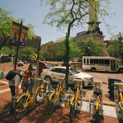 Urban adventurers bikeshare