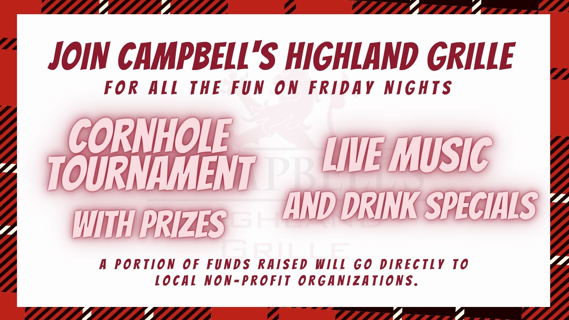 Cornhole and Live Music to Support Charity