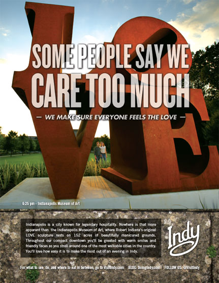 Visitindy ad love