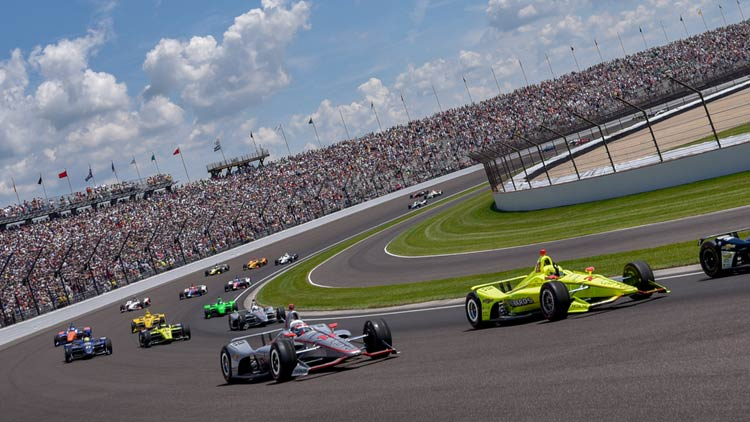 Racing at Indianapolis Motor Speedway