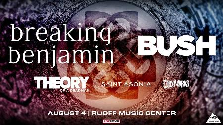 Breaking Benjamin with special guests Bush, Theory of a Deadman, Saint Asonia, and Cory Marks