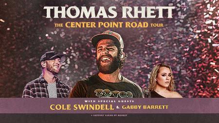Thomas Rhett - The Centerpoint Road Tour with Cole Swindell and Gabby Barrett