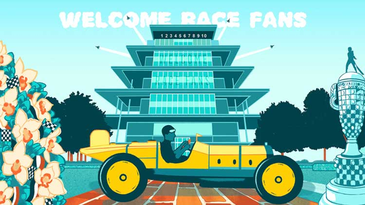 """Welcome Race Fans"" Artwork Returns in GIF Form for 2021"